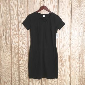 Old Navy t shirt bodycon black dress szS